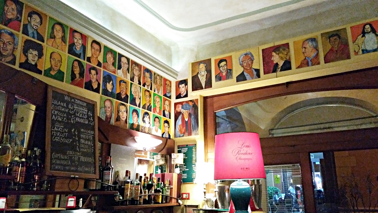 The paintings of Bar Mercato in Bologna - Pubtourist