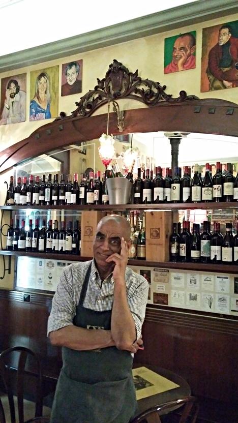The portrait of Steve in Bar Mercato