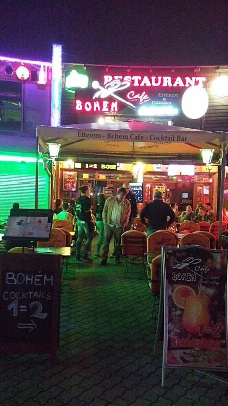 The Bohem café and restaurant in Siófok, Petőfi sétány - Pubtourist