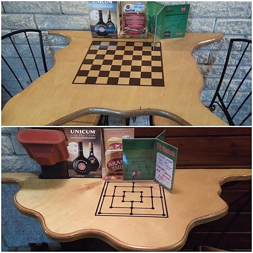 The board game pub tables of Koborló Koccintó, Siófok
