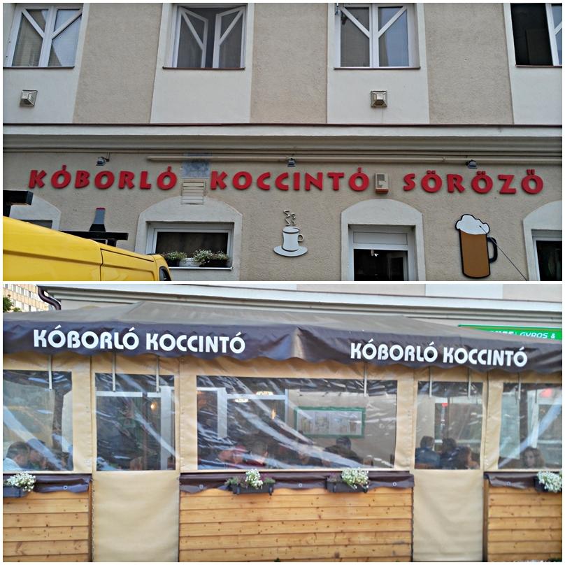 The entrance of Koborló Koccintó Siófok