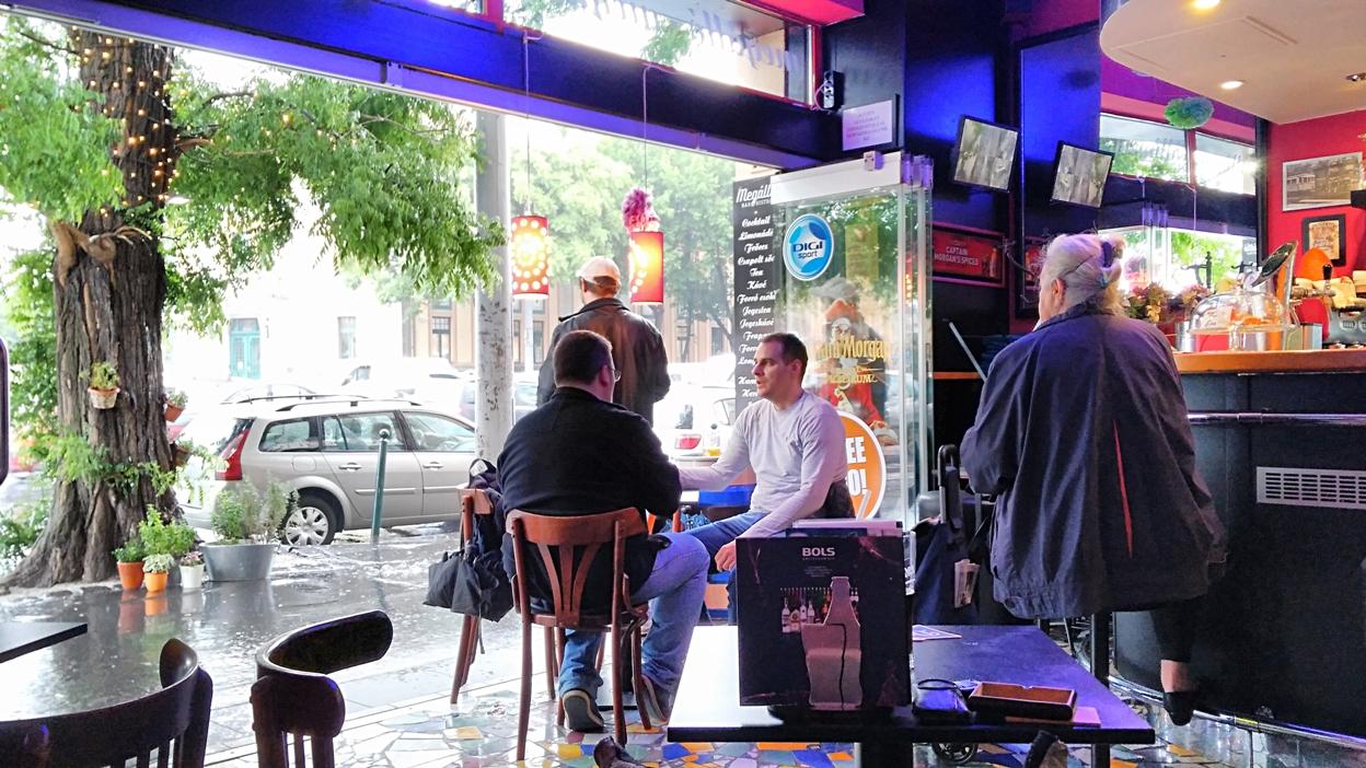 A look outside from Megálló, Budapest - Pubtourist