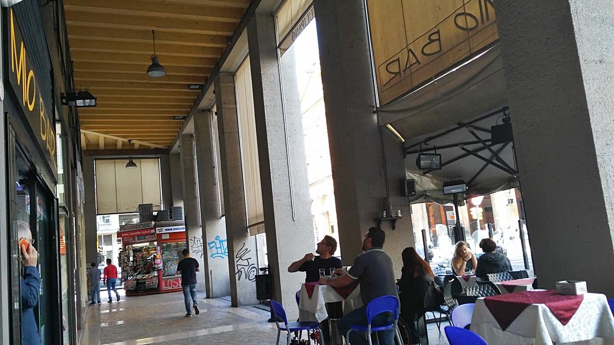 The terrace of Mio bar, Bologna - Pubtourist