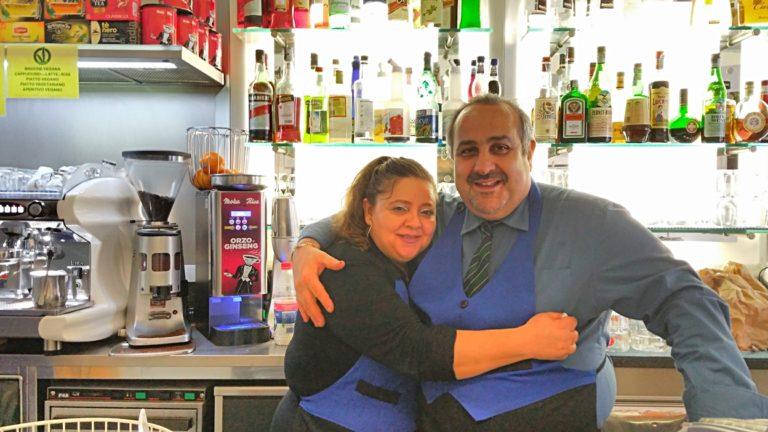 Francesca and Lucinao in Mio Bar, Bologna - Pubtourist