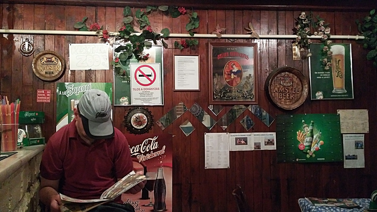 The Matróz pub inside in Keszthely, Lake Balaton - Pubtourist