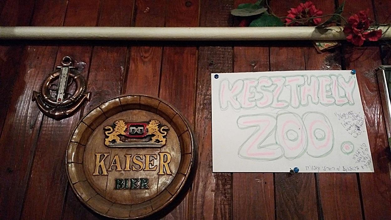 The Matróz Pub calls itself the Keszthely Zoo by Lake Balaton - Pubtourist