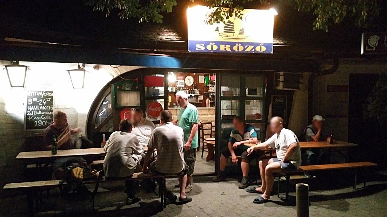 The Matróz pub in Keszthely, Lake Balaton - Pubtourist