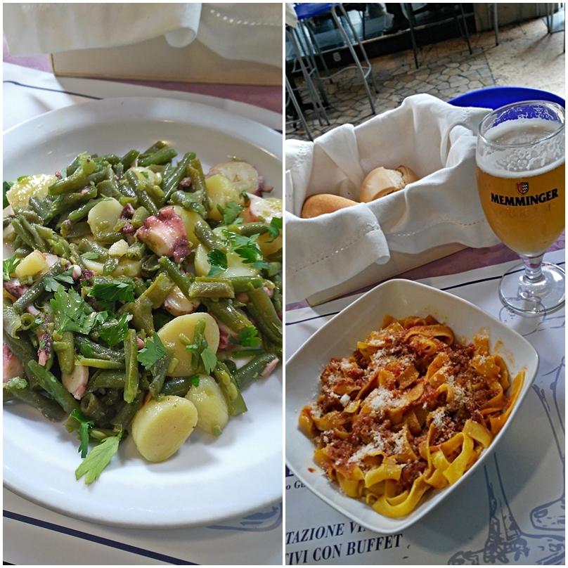 Ragu al bolognese and octopus salad in Mio Bar, Bologna - Pubtourist