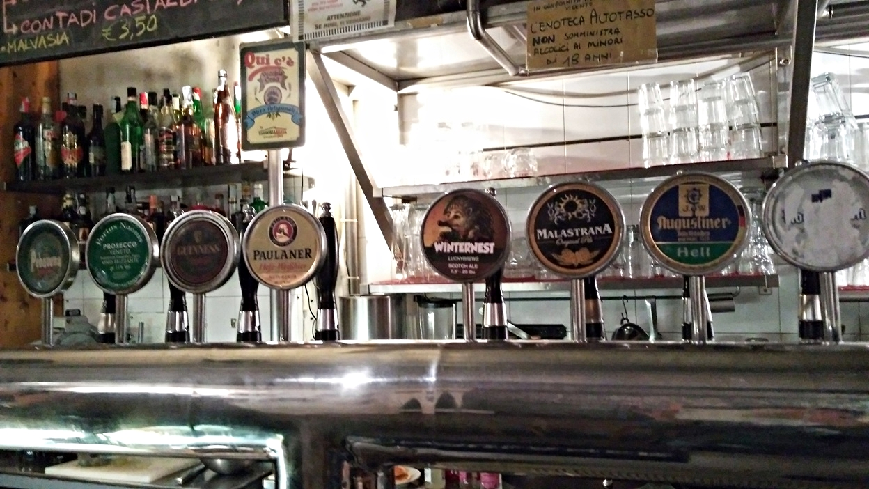 Beers on tap in Alto Tasso, Bologna - Pubtourist