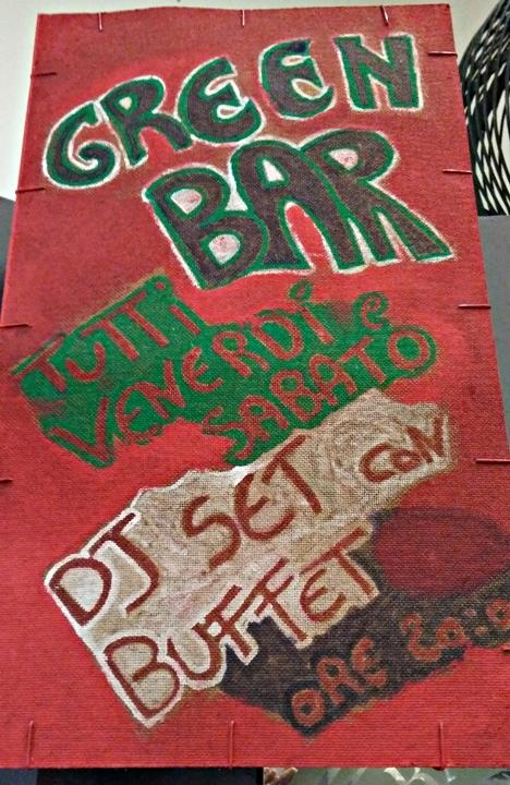 DJ set in a market hall, Bologna, Green Bar, Mercato delle Erbe